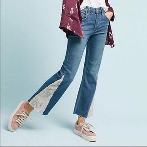 Pilcro and the letterpress sequin crop Jeans